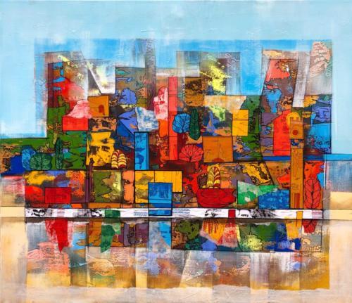 Komposition I, 100 X 90 cm