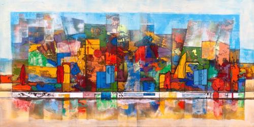 Komposition II, 120 X 60 cm