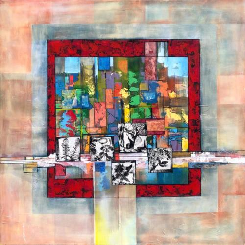 Komposition II, 90 X 100 cm