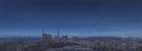 Aachen,Abend II, 110 X 37 cm