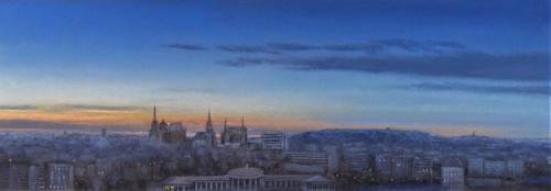 Aachen, Abend I, 110 X 37 cm
