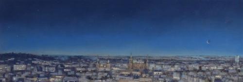 Aachen, Winter, 110 X 37 cm