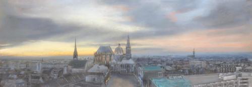 Aachen,morgens, 110 X 37 cm