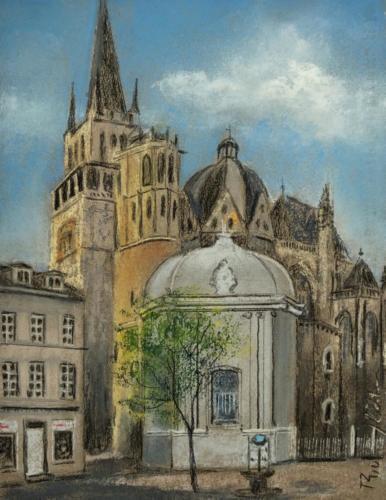 Aachen Dom, Ungarnkapelle, 25 X 32 cm