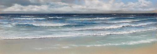 Meer Wellen, 110 X 37 cm