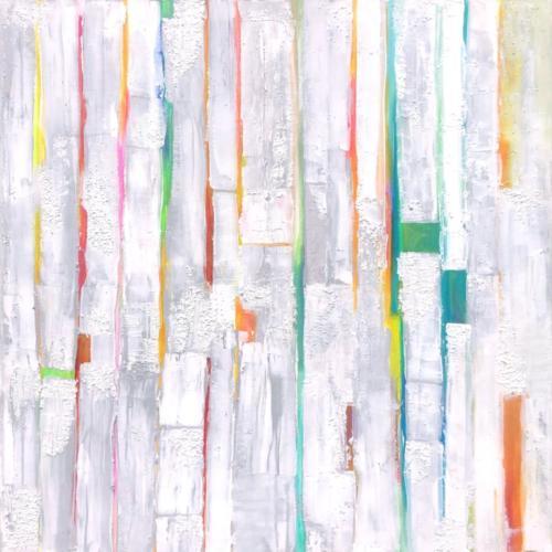 Farbenspie I, 80 X 80 cm