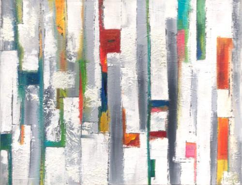 Farbenspie II, 90 X 70 cm
