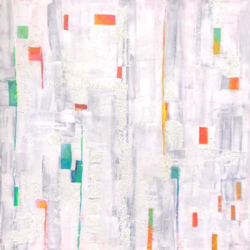 Farbenspie IV, 100 X 100 cm