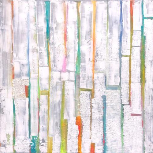 Farbenspie V, 100 X 100 cm