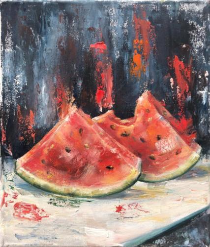 Melone, 24 X 30 cm