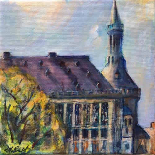 Aachen Rathaus I, 20 X 20 cm