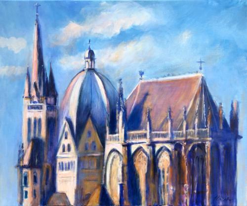 Aachen Dom II, 60 X 50 cm