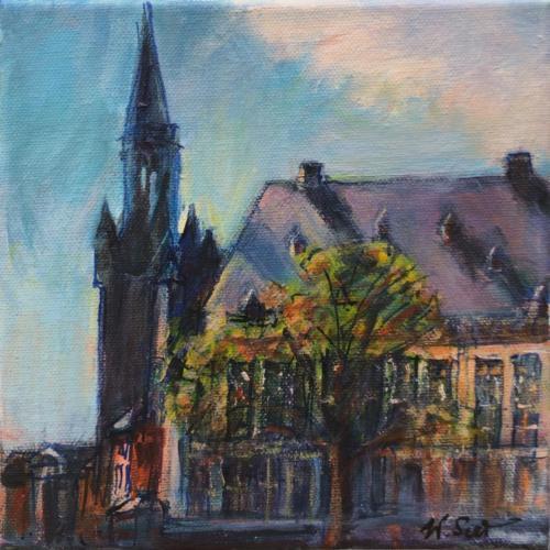 Aachen Rathaus II, 20 X 20 cm