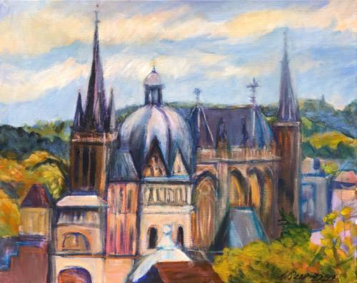 Aachen Dom III, 50 X 40 cm