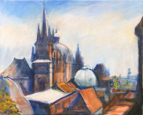 Aachen Dom IV, 50 X 40 cm
