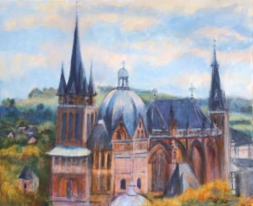 Aachen Dom III, 60 X 50 cm