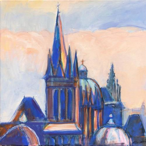 Aachen Dom I, 60 X 60 cm