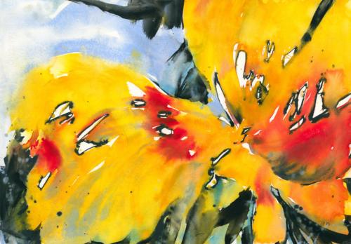 Tulpen I, 71 X 50,5 cm