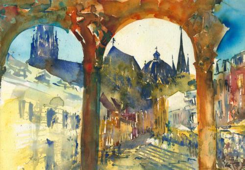 Aachen-Hof I, 54 X 38 CM